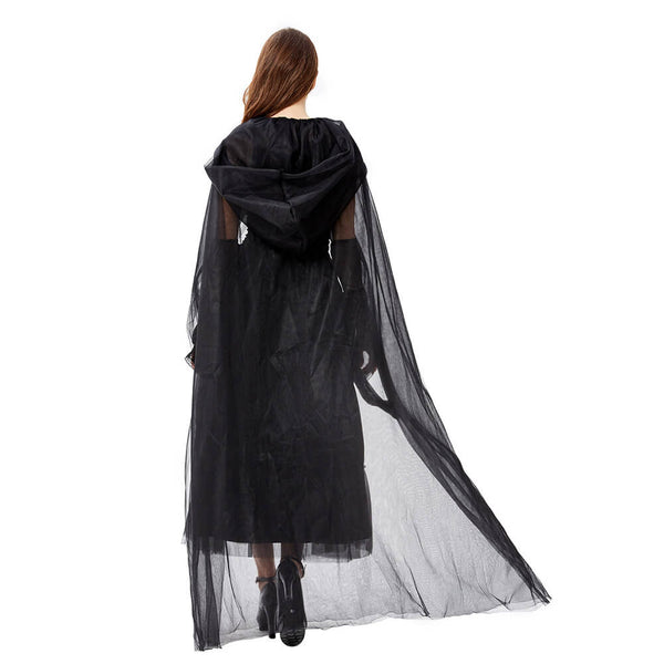 Black Hooded Witch Costume - otakumadness