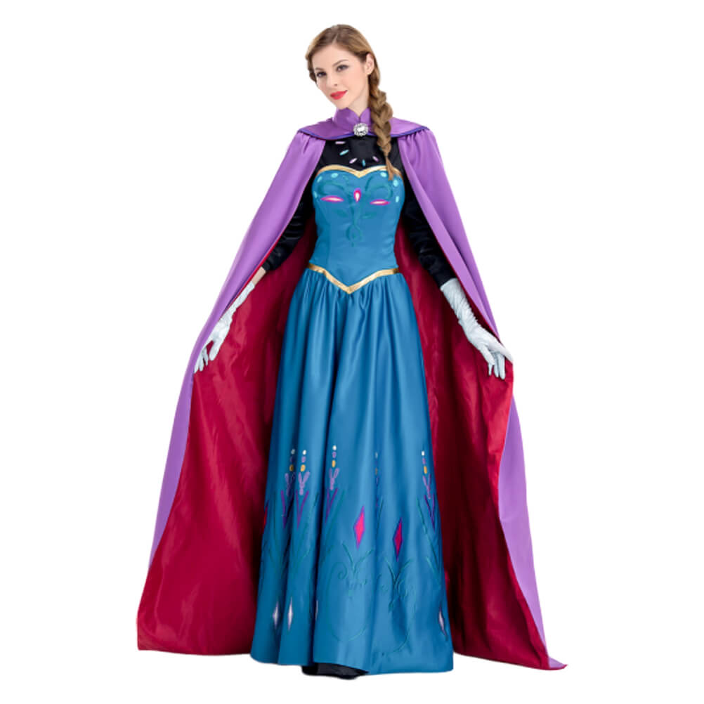 Frozen Princess Anna Dress Cosplay Costume Halloween Outfit OTKS028 - otakumadness