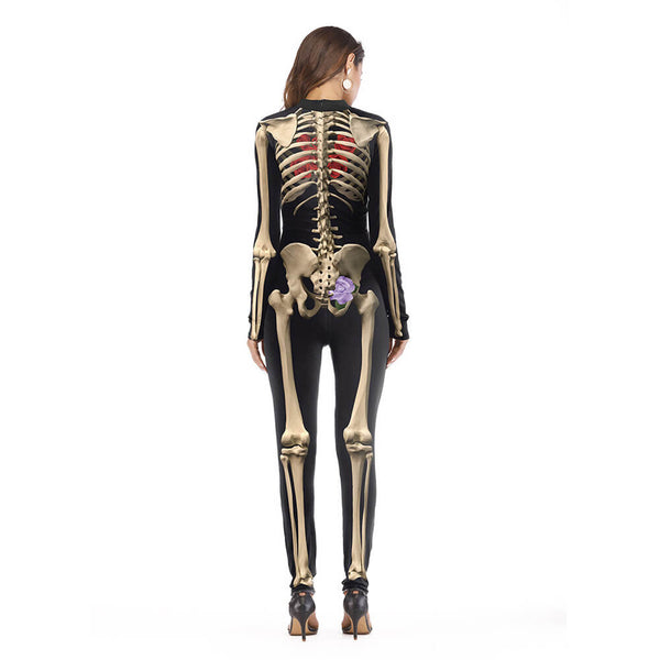 Halloween Skeleton Costume Bodysuit - otakumadness