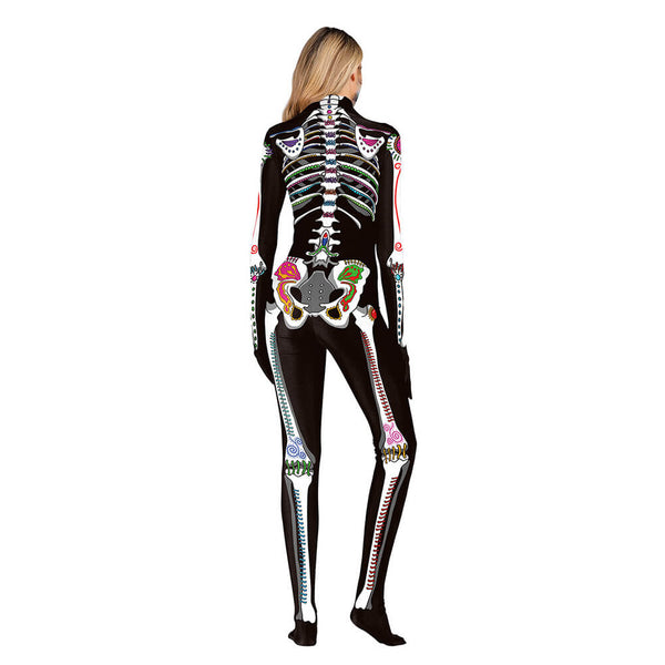 Halloween Skeleton Print Costume - otakumadness