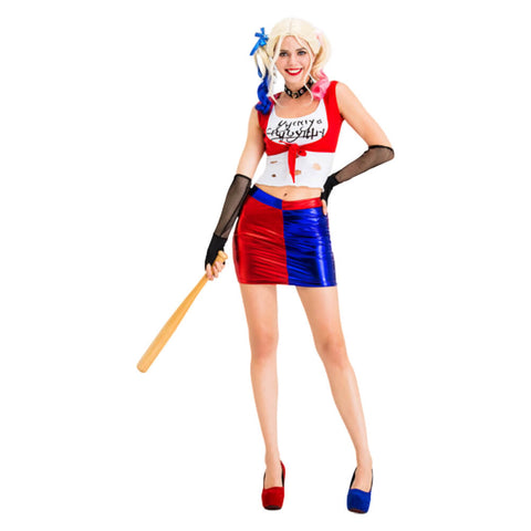 Suicide Squad Harley Quinn Cosplay Costume Halloween Outfit OTKS034 - otakumadness