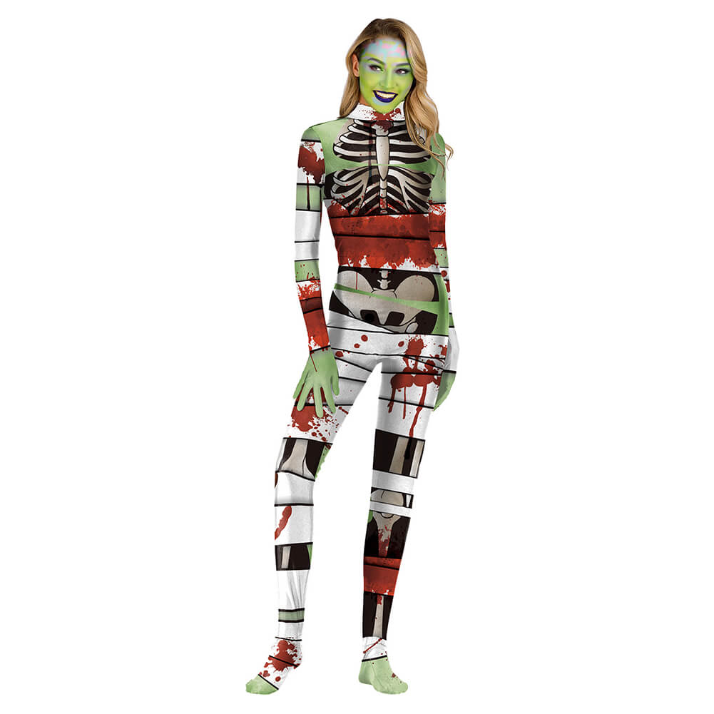 Halloween Horror Skeleton Jumpsuit - otakumadness