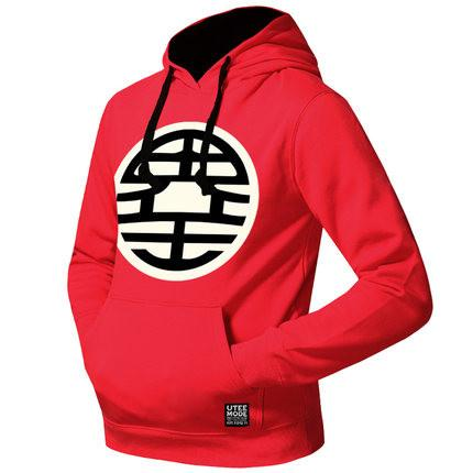 Dragon Ball Hoodies - Men's Logo Printed Fleeced Pullover Hoodie (Kaio) OTA508 - otakumadness