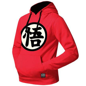 Dragon Ball Hoodies - Men's Logo Printed Fleeced Pullover Hoodie (Go) OTA509 - otakumadness