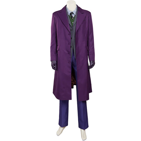 DC Batman The Dark Knight Joker Cosplay Costume Halloween Outfit OTKS032 - otakumadness