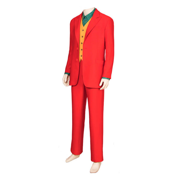 Joker 2019 Red Suit Cosplay Costume Halloween Outfit OTK001 - otakumadness