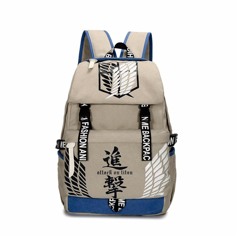 Anime Comics Attack On Titan Canvas Backpack OTAB078 - otakumadness