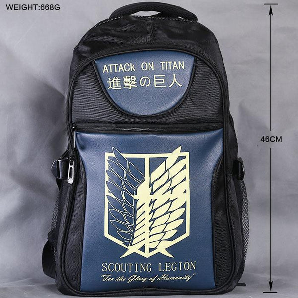 Anime Comics Attack On Titan Teens Backpack OTAB102 - otakumadness