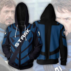 The Avengers Hoodies - Iron Man Zip UP Hoodie OTA00E - otakumadness