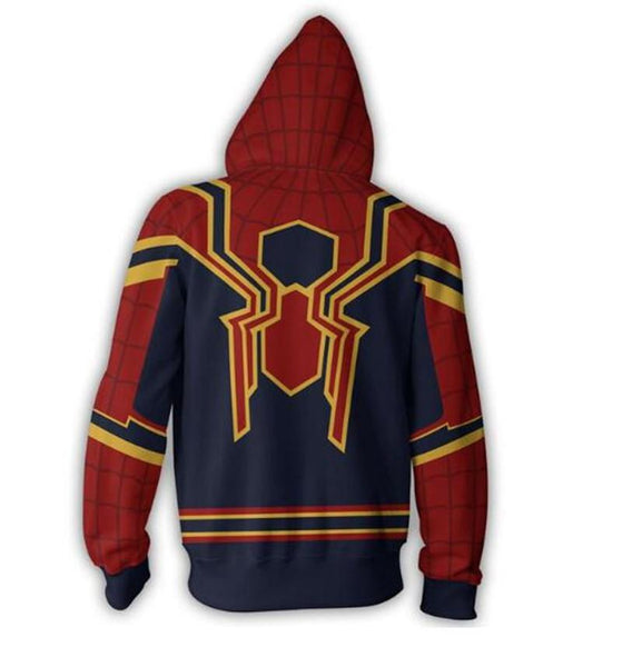 The Avengers Hoodies - Spider Man Zip up Hoodie OTA00I - otakumadness