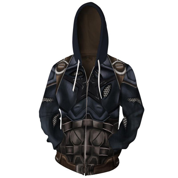 The Avengers Hoodies - Captain America Zip Up Hoodie OTA00K - otakumadness