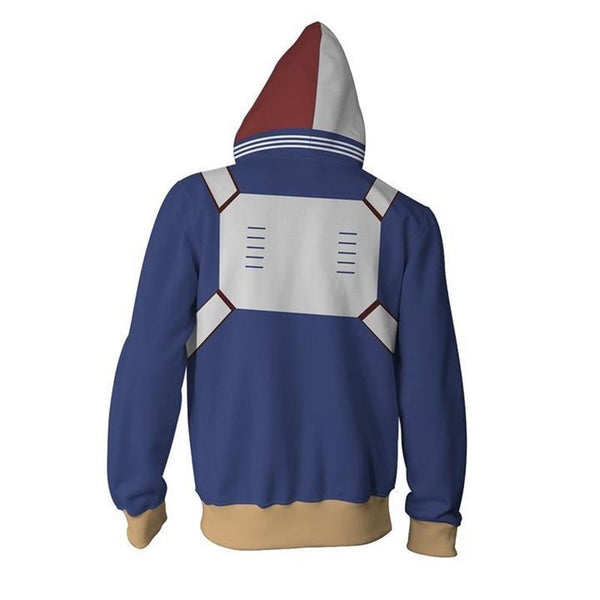 My Hero Academia Hoodies - Shoto Todoroki Zip up Hoodie OTA016 - otakumadness
