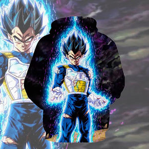 Dragon Ball Hoodies - Ultra Instincts Vegeta Pullover Hoodie OTA023 - otakumadness