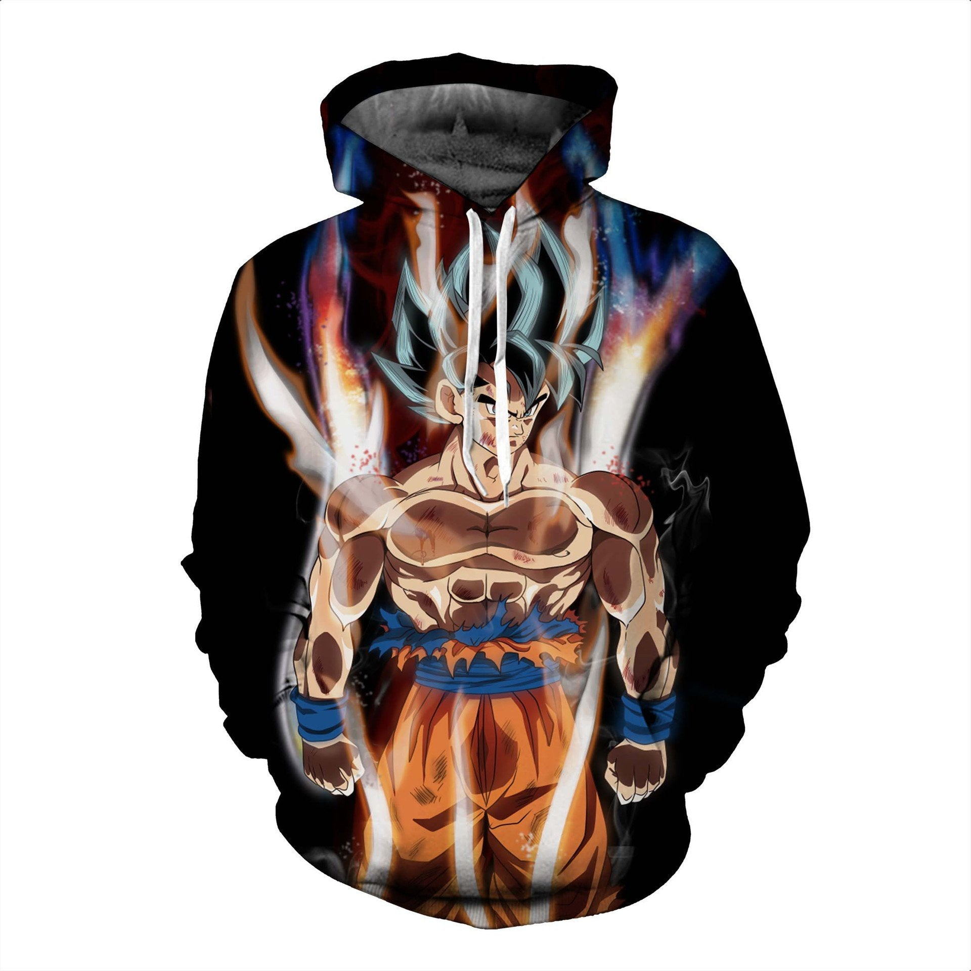 Dragon Ball Hoodies - Goku Ultra Instinct Pullover Hoodie OTA030 - otakumadness