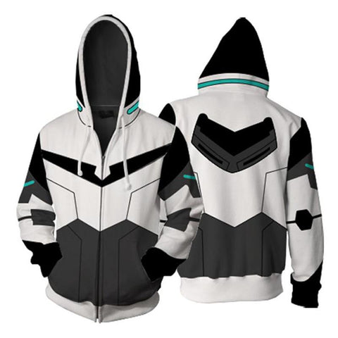 Voltron Hoodies - Legendary Defender Paladin Shiro Zip Up Hoodie OTA048 - otakumadness