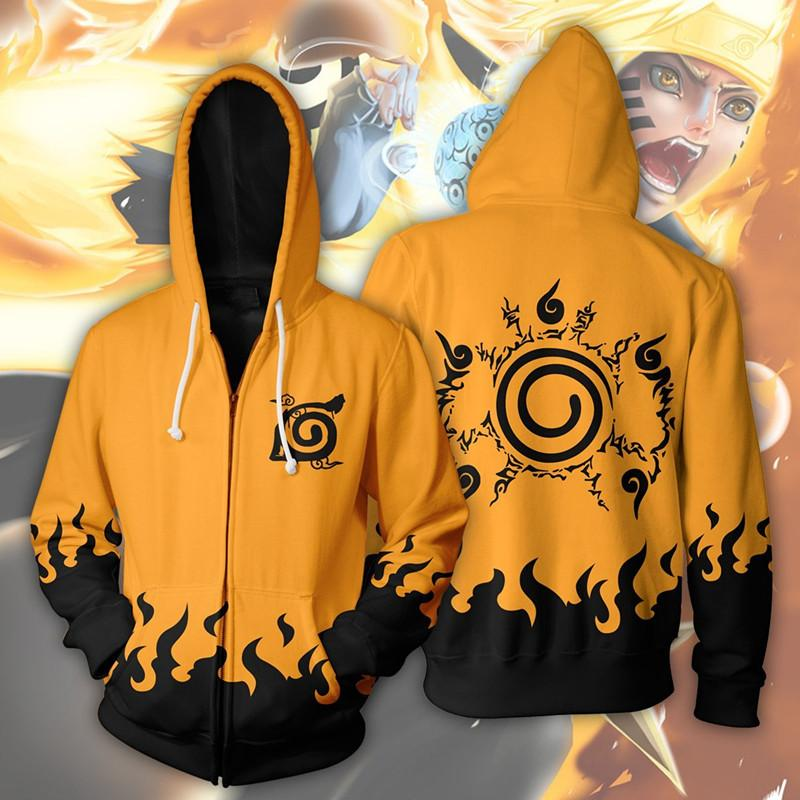 Naruto Hoodies - Shippuden Naruto Seal Zip Up Hoodie OTA106 - otakumadness