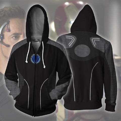 Avengers Hoodies - Iron-Man Zip Up Hoodie OTA150 - otakumadness