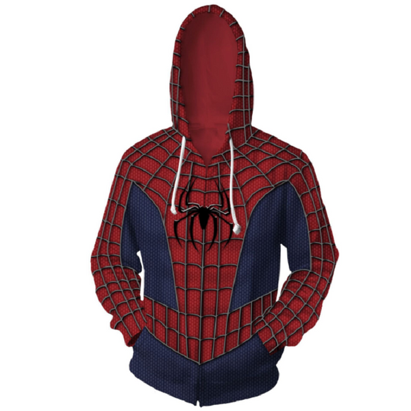 Avengers Hoodies - Spider-Man Zip Up Hoodie OTA179 - otakumadness