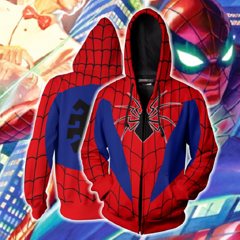 Avengers Hoodies - Spider-Man Zip Up Hoodie OTA185 - otakumadness