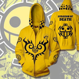 One Piece Hoodies - Trafalgar Law Zip Up Hoodie OTA308 - otakumadness