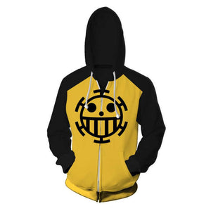 One Piece Hoodies -Trafalgar Law Zip Up Hoodie OTA310 - otakumadness