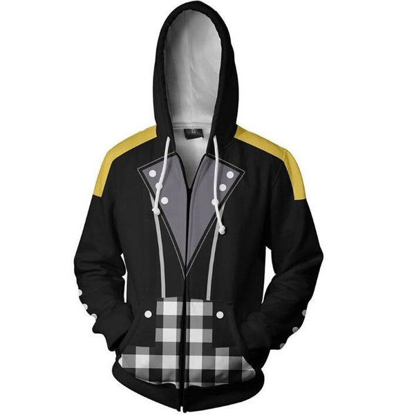 Kingdom Hearts Hoodies - Riku Keyblade Zip Up Hoodie OTA312 - otakumadness