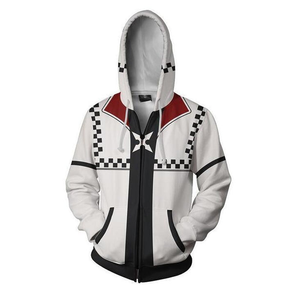 Kingdom Hearts Hoodies - Roxas Zip Up Hoodie OTA313 - otakumadness