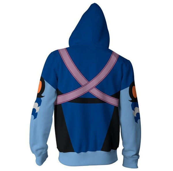 Kingdom Hearts Hoodies - Aqua Zip Up Hoodie OTA315 - otakumadness