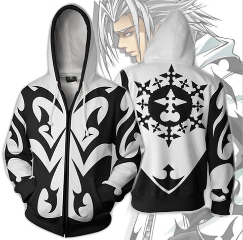 Kingdom Hearts Hoodies - Xemnas Zip Up Hoodie OTA317 - otakumadness