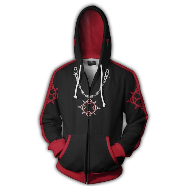 Kingdom Hearts Hoodies - Axel Zip Up Hoodie OTA318 - otakumadness