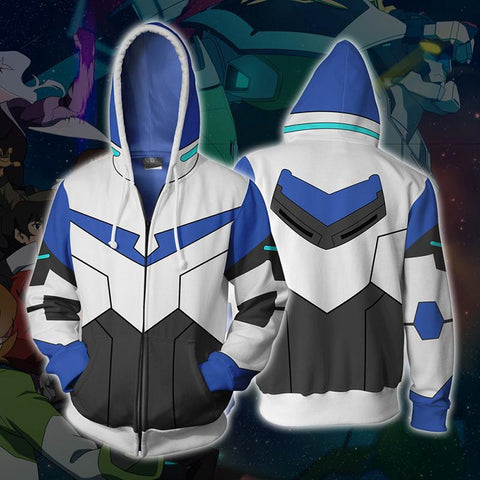 Voltron Hoodies - Legendary Defender Paladin Lance Zip Up Hoodie OTA504 - otakumadness