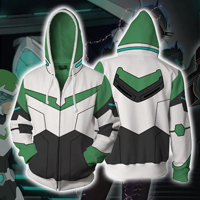 Voltron Hoodies - Legendary Defender Paladin Pidge Zip Up Hoodie OTA046 - otakumadness