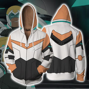 Voltron Hoodies - Legendary Defender Paladin Hunk Zip Up Hoodie OTA047 - otakumadness