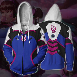 Overwatch Hoodies - D. Va Zip Up Hoodie OTA508 - otakumadness