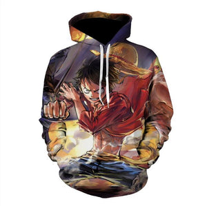 One Piece Hoodies - Monkey D. Luffy Pullover Hoodie OTA519 - otakumadness