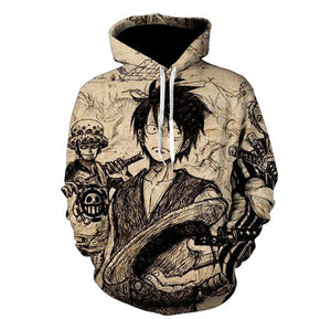 One Piece Hoodies - Monkey D. Luffy Pullover Hoodie OTA555 - otakumadness