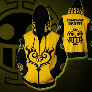 One Piece Hoodies - Trafalgar Law Zip Up Hoodie OTA590 - otakumadness