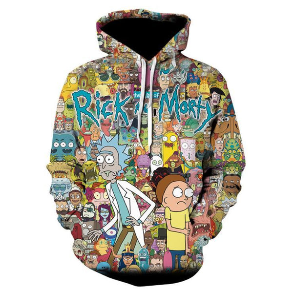 Rick and Morty Pullover Hoodie OTA593 - otakumadness