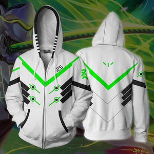 Overwatch Hoodies - Genji Zip Up Hoodie OTA607 - otakumadness
