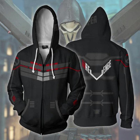 Overwatch Hoodies - Bleach Zip Up Hoodie OTA608 - otakumadness
