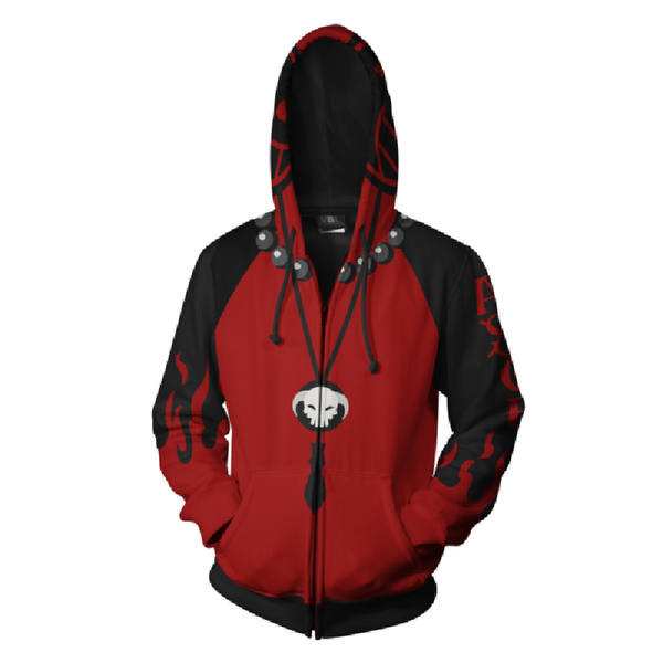 One Piece Hoodies - Portgas D. Ace Zip Up Hoodie OTA617 - otakumadness