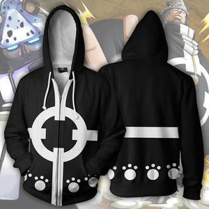 One Piece Hoodies - Shichibukai Kuma Zip Up Hoodie OTA618 - otakumadness