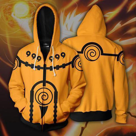 Naruto Hoodies - Kyubi Mood Zip Up Hoodie OTA621 - otakumadness