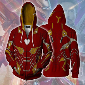 Avengers Hoodies - Iron Man Zip Up Hoodie OTA633 - otakumadness