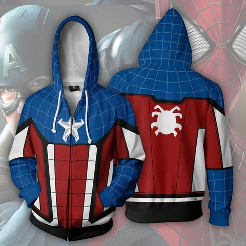 Avengers Hoodies - Spider Man Zip Up Hoodie OTA636 - otakumadness