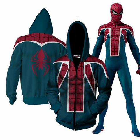 Avengers Spider-Man Hoodies - Zip Up Hoodie OTA806 - otakumadness