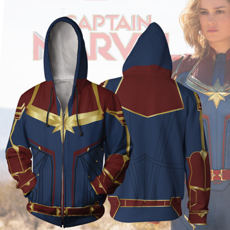 Captain Marvel Hoodies