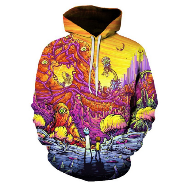 Rick and Morty Pullover Hoodie OTA856 - otakumadness