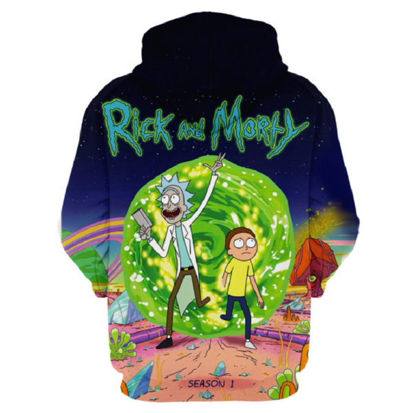Rick and Morty Pullover Hoodie OTA859 - otakumadness