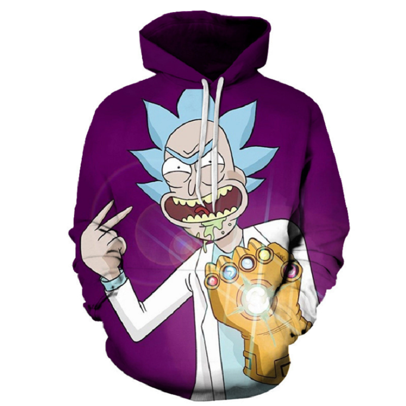 Rick and Morty Pullover Hoodie OTA865 - otakumadness